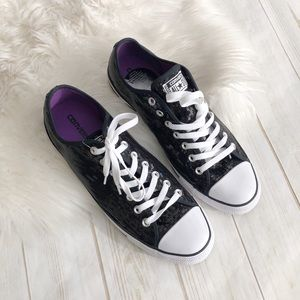 🆕 Converse All Stars Ox Black Sequin Sneakers 13